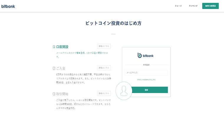 ビットバンク(bitbank)の主な使い方と登録の流れ