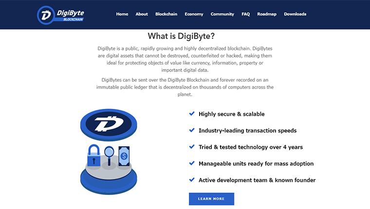 DigiByte(デジバイト/DGB)の特徴とは?
