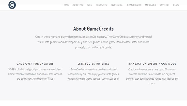 GameCredits(ゲームクレジット/GAME)の歴史について