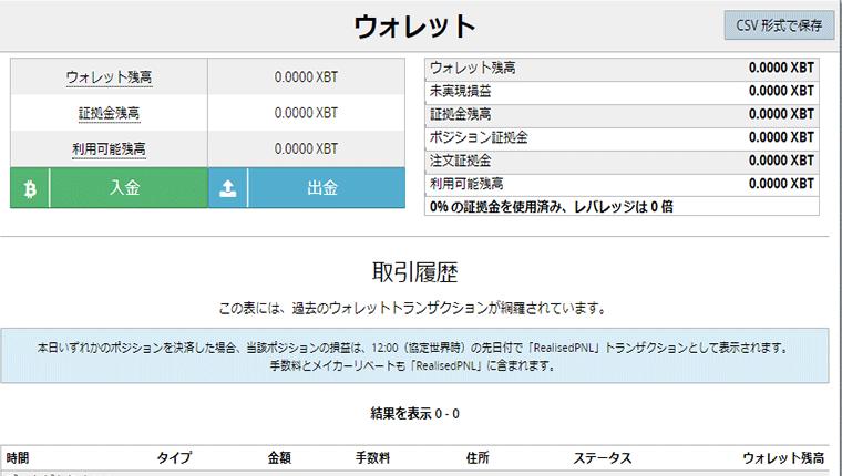 BitMEX(ビットメックス)入金方法と手数料